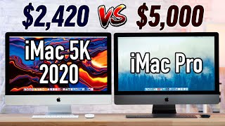 The 2020 5K iMac ($2420) OUTPERFORMS the $5000 iMac Pro!