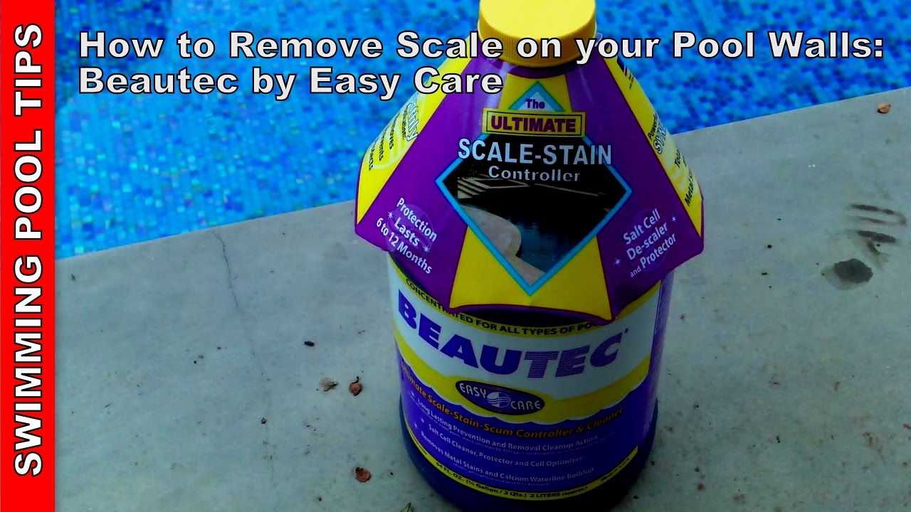 remove calcium scale from your pool