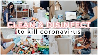 EXTREME CLEAN & DISIΝFECT WITH ME! How to Disinfect Everything In Your Home After A Virus | Justine