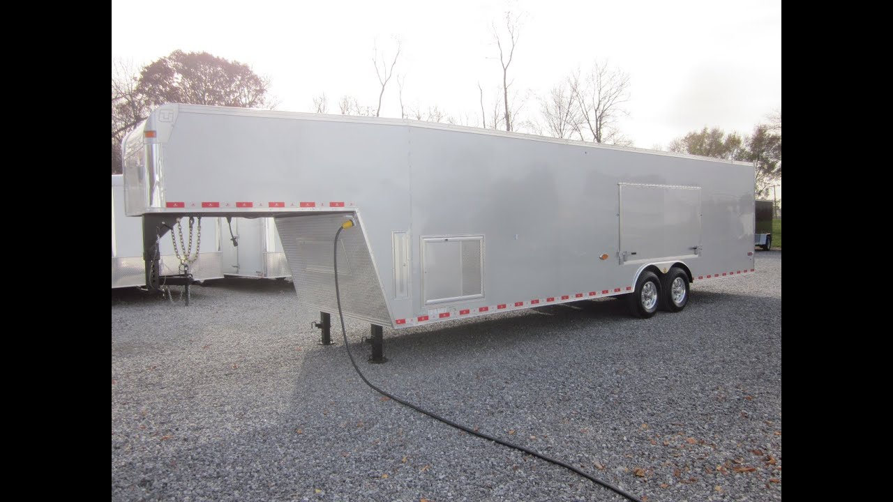 36\' United Gooseneck Unlimited Stage II Race Car Trailer For Sale ...