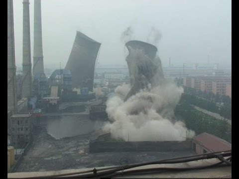 Coal-fired power plant demolished in E China