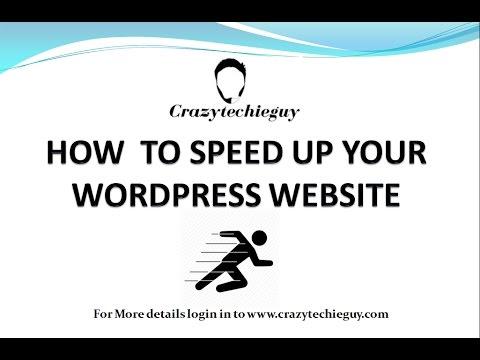 How to Speed Up Your WordPress Website - WordPress Website Speed - Slow WordPress Website Fix 2017