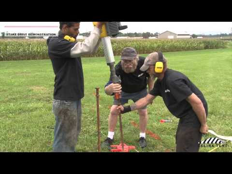 How To Drive a Tent Stake (with an electric or gas breaker hammer)