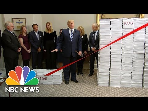See President Trump Cut the Red Tape At White House Event!