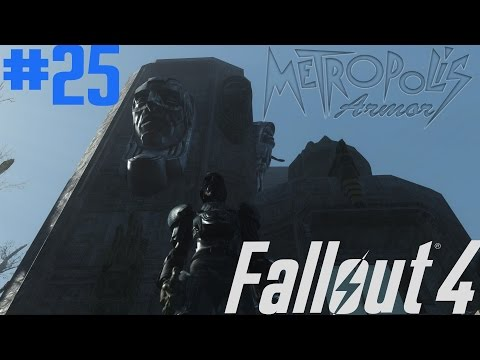 Fallout 4 Modded Let's Play Ep 25-Metropolis Armor-Badger
