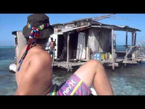 Belize fisherman living on stranded shack in middle of Caribbean Sea