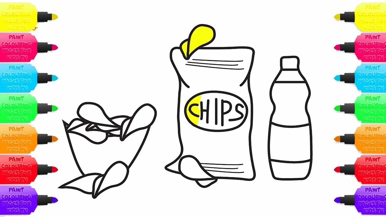 how to draw potato chips