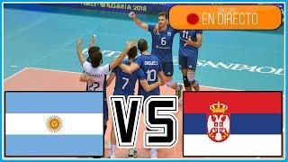 Argentina vs Serbia en vivo - Mundial de voley 2018 Italia/Bulgaria - FULL MATCH