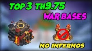 Top 3 Best Th9.75 War Bases | Anti 3 Star No Inferno | Clash of Clans