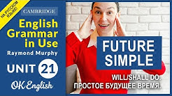 Unit 21 Future Simple - простое будущее время. WILL и SHALL