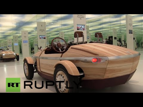Italy Toyota Return To 19thc With Concept Car Made Of Wood