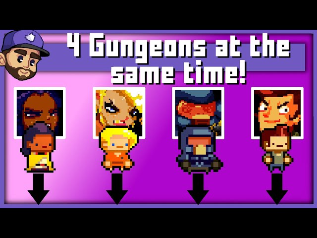 ENTER THE GUNGEONS! | 4 Games of Enter the Gungeon played at the same time!