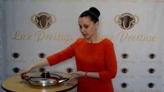 Обзор сковороды гриль Lux Prestige.