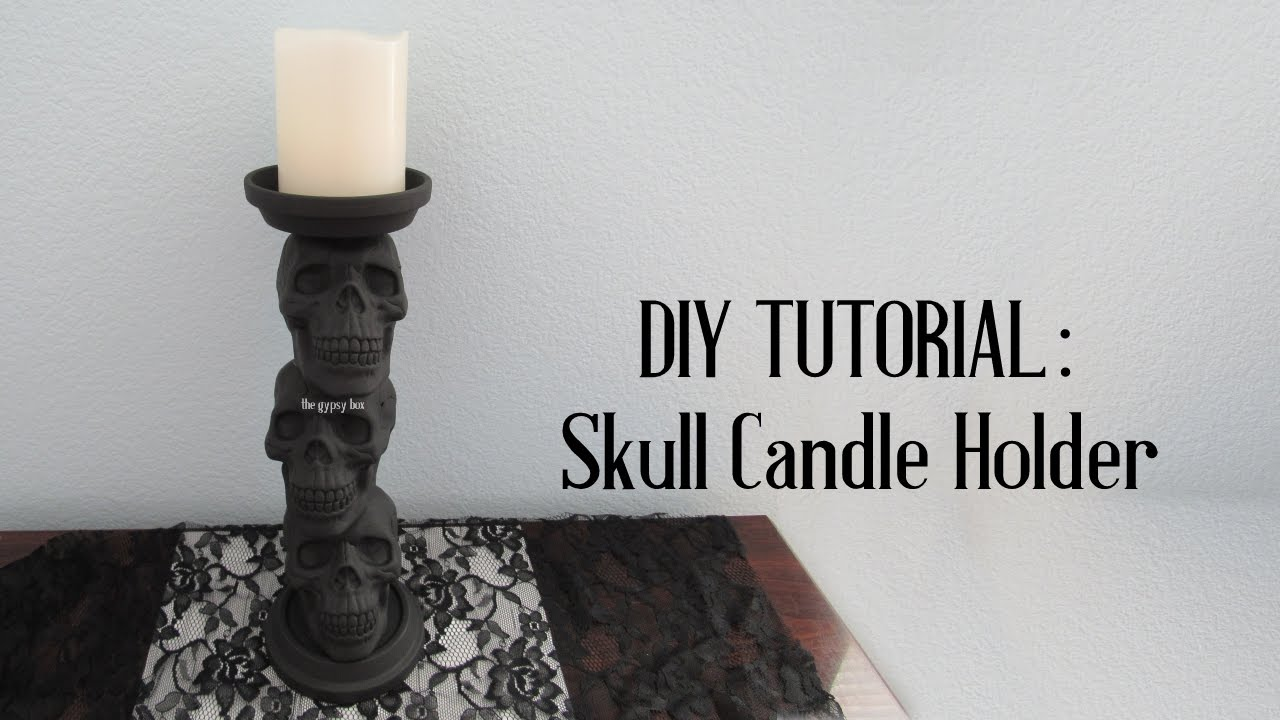 Skull Candle Holder DIY Tutorial