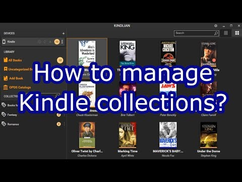 How to manage Kindle collections?