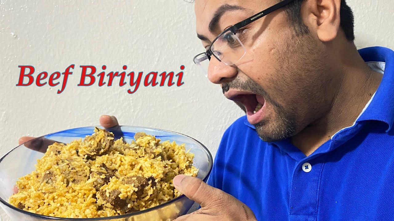 Biryani recipe - how to make ready mix beef biryani by ...