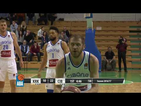 ABA Liga 2016/17, Round 26 match: Krka - Cibona (12.3.2017)