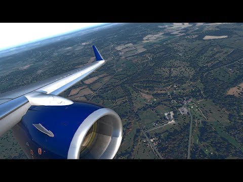 X-plane 11 Landing 08R London Gatwick EGKK.