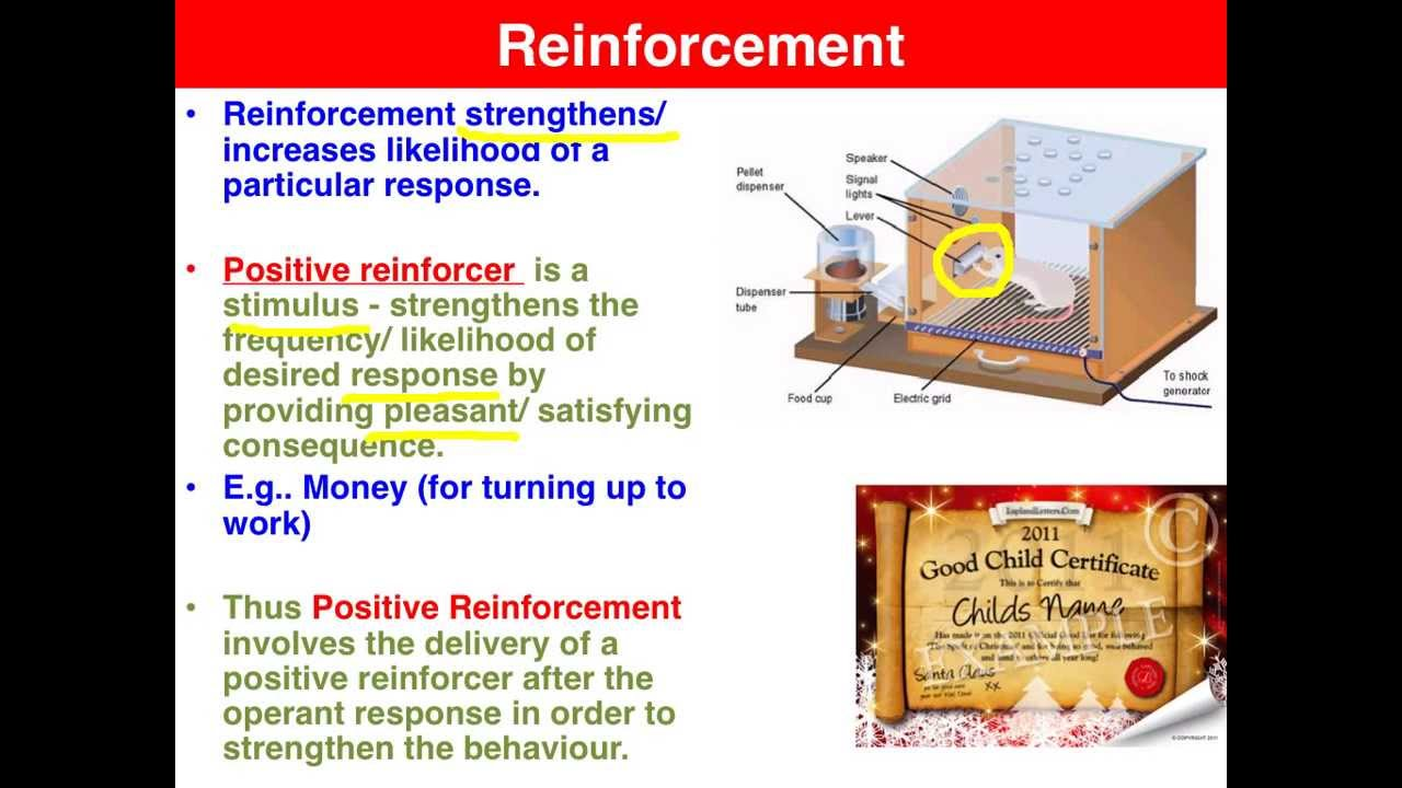 psychology positive negative reinforcement Perhaps some examples of negative reinforcement would be helpful (remember,  (but a high grade is a positive reinforcer for studying at the same time.