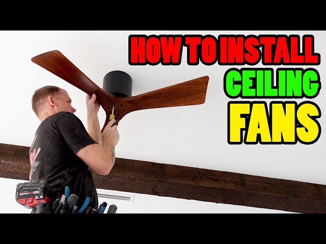 How To Install a CEILING FAN - (From an Electrician)