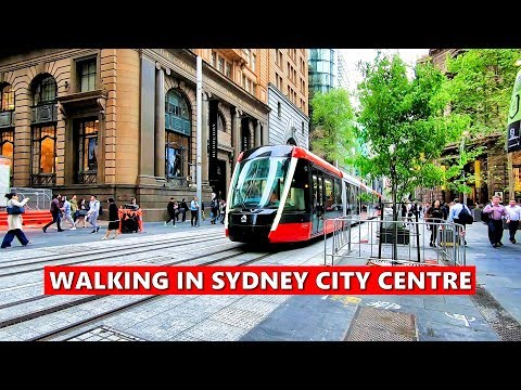 WALKING IN SYDNEY CITY CENTRE | George Street - The Main Street In Sydney, Australia