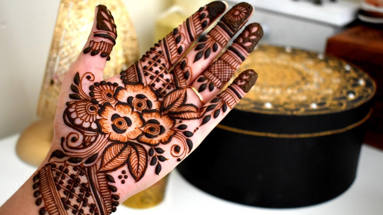 Mehndi Step By Step Tutorial : Full hand henna mehndi design for eid step by