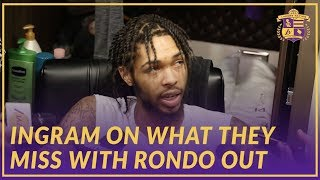 Lakers Interview: Brandon Ingram on What The Team Will Miss With Rajon Rondo Out