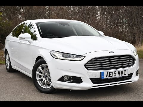 Ford Mondeo 2015 White >> Used Ford Mondeo 1 6 Tdci Econetic Titanium 5dr Frozen White 2015