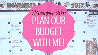 November 2017 Budget With Me!