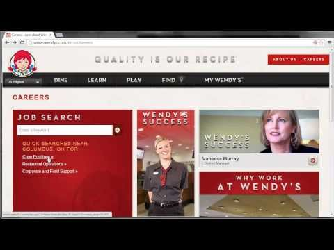 Wendy's Application Online Video