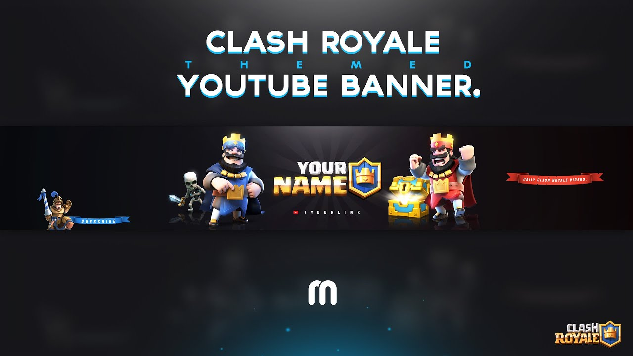 FREE Clash Royale Youtube Banner Template! - YouTube