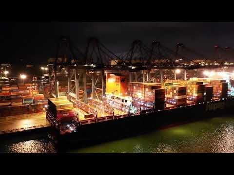 Yantian International Container Terminals_Shezhen Yiantian Port Aerial View_Shenzhen China