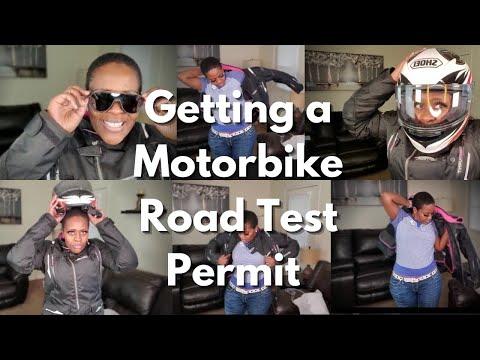 Getting my Permit to do a Motorbike Road Test   Motorbike Permit