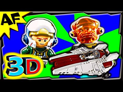 3D A-WING STARFIGHTER - Lego Star Wars 75003 Animated Building Review