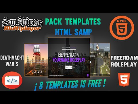 Pack Templates SAMP HTML Free Download + Preview