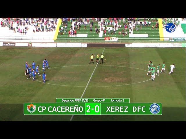 Resumen: CP Cacereño - Xerez Deportivo FC (2ª RFEF Gr.IV 21/22)