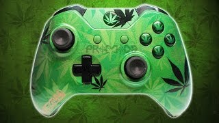 """Weed Camo"" Custom Airbrushed Xbox One Controller - Purchase on ProModz.com"
