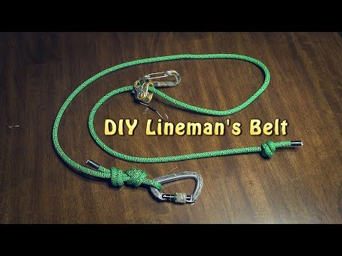 DIY Lineman's Rope for Hunting