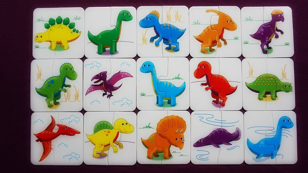 Dinosaur matching game for kids k 39 s toys youtube for Painting games com