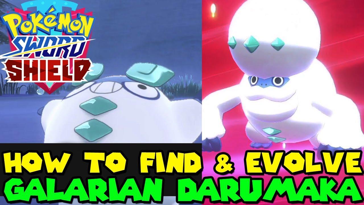 How to find & evolve GALARIAN DARUMAKA in Pokemon Sword ...
