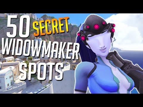 50 SECRET HIDDEN SNIPER SPOTS IN OVERWATCH