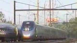 Amtrak Clocker and Acela Express