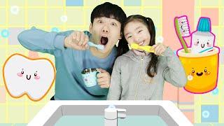 양치질 손씻기 바른생활 놀이 Bath Song Nursery Rhymes for kids | Toothbrush Hand Wash - 마슈토이 Mashu ToysReview