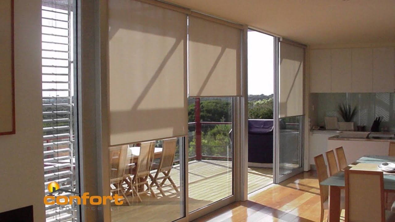 How To Close Blinds >> CASACOCINA - Cortinas Rollers - Black Out - Screen - YouTube