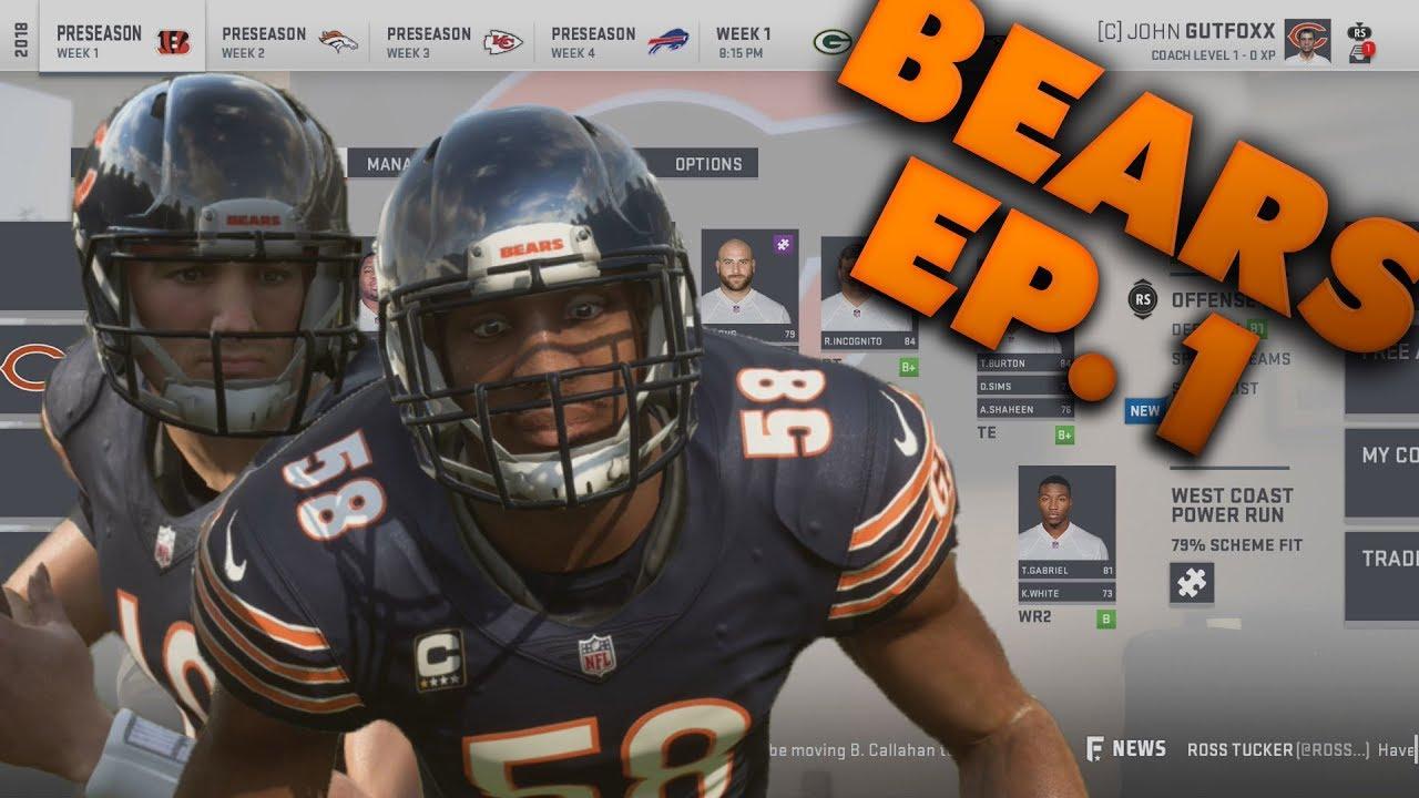 Starting the Legendary Bears Rebuild! Madden 19 Chicago Bears Franchise  Ep 1 Preseason