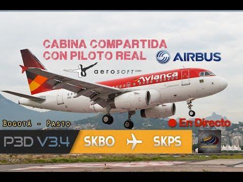 DIRECTO [P3Dv3.4.22] IVAO | A318-100 Shared Cockpit Con PILOTO REAL!! | SKBO - SKPS (ESP/ENG)