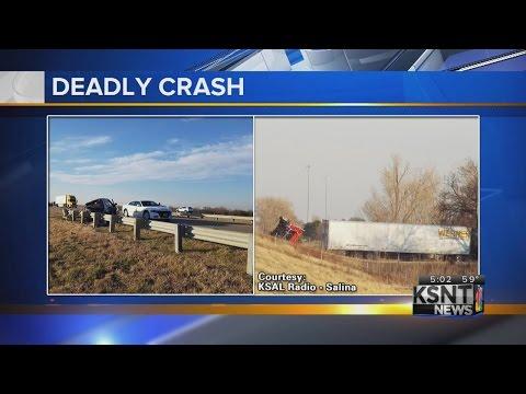 2 killed, transportation worker hurt in Kansas crash