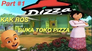 KAK ROS E UPIN MAKE PIZZA SHOP IN KAMPUNG DURIAN COLLAPSE ROBLOX INDONESIA