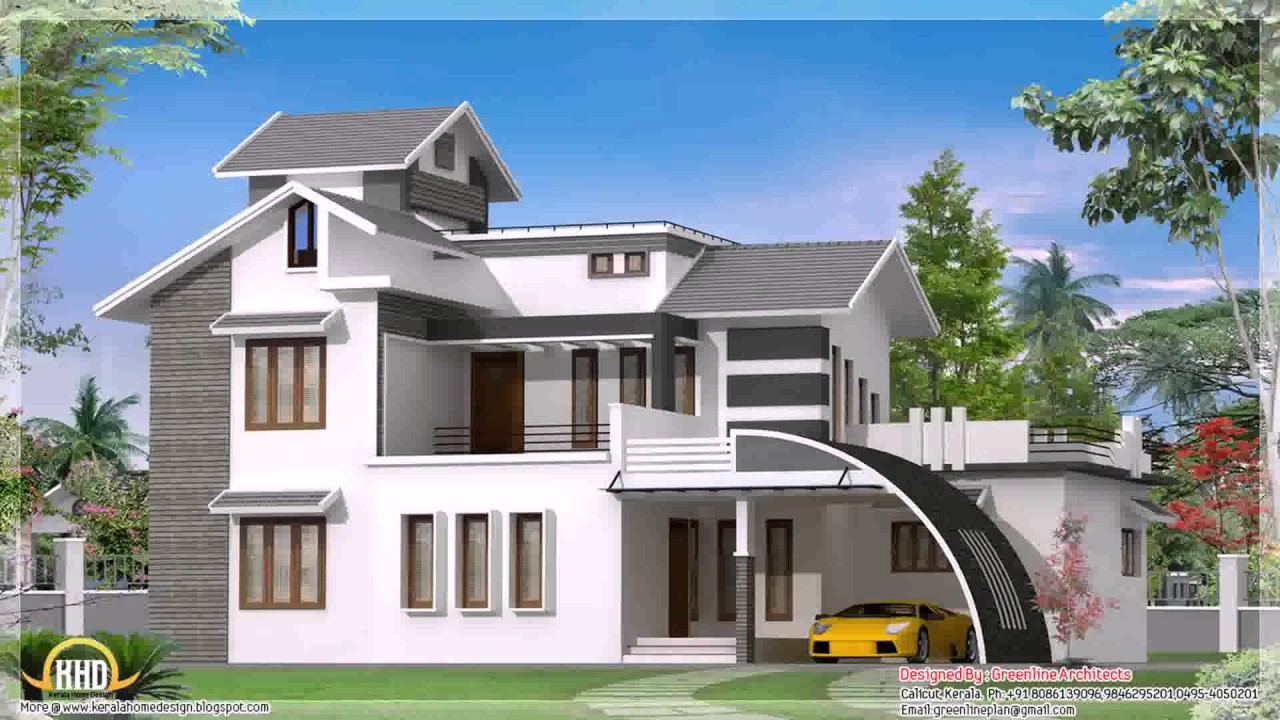 South Indian House Exterior Designs Youtube