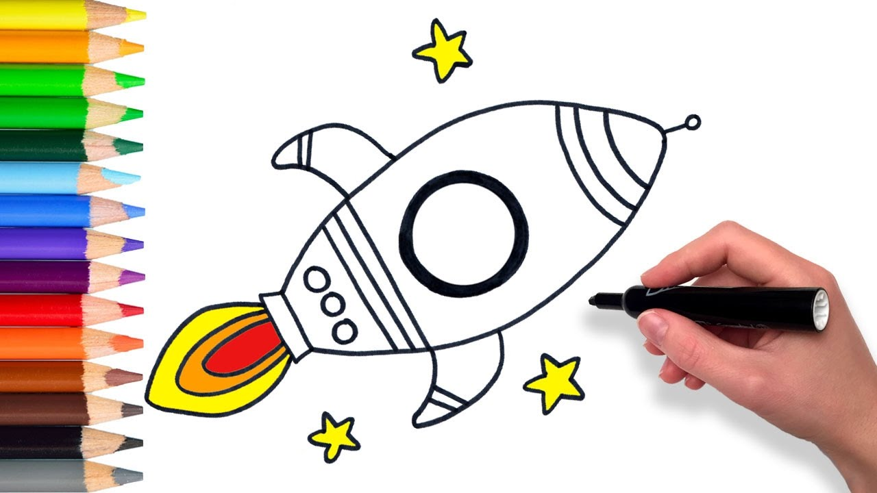 Learn How To Draw A Rocket Ship